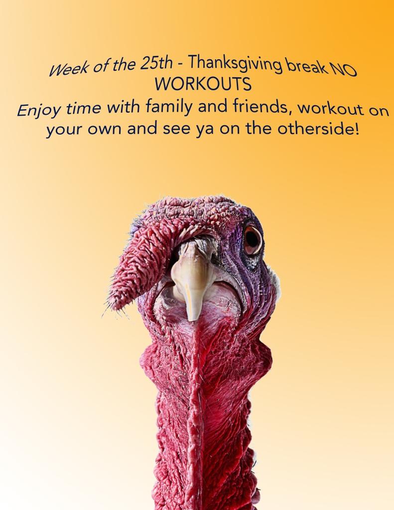 Thanksgiving No workouts